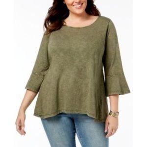 Style & Co. Womens Plus Size 1X High-Low Hem